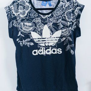 Adidas Floral Lace Print Top